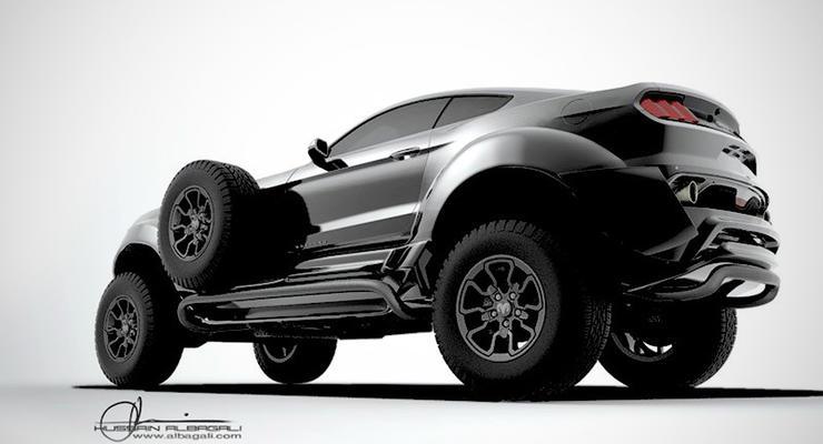 Только для шейха: самый большой Ford Mustang в мире
