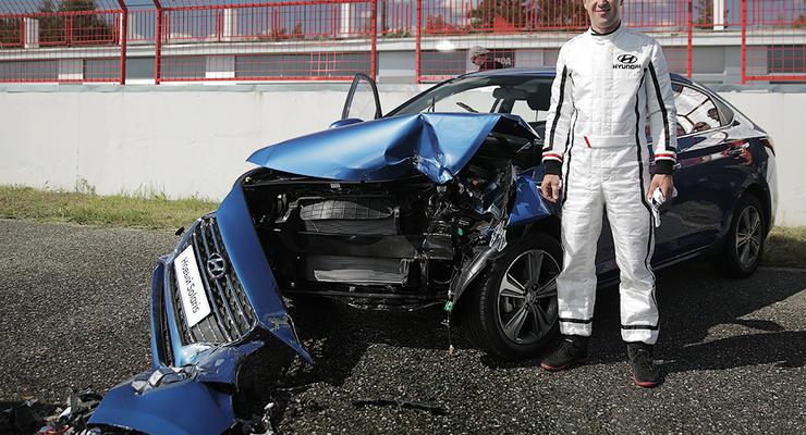 Hyundai провела краш-тест c живым человеком