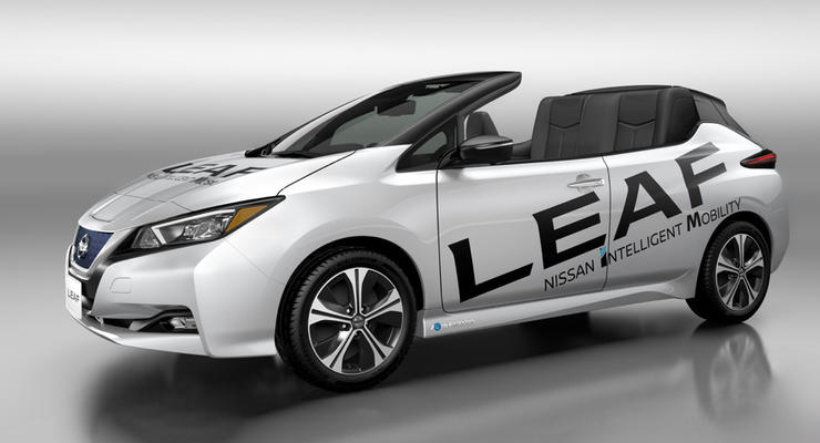 Nissan Leaf стал кабриолетом