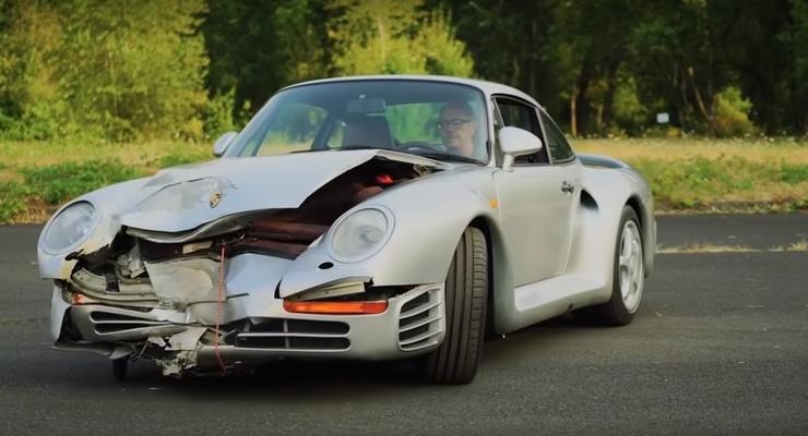 Разбитый Porsche продадут за полмиллиона долларов