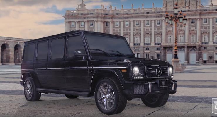 Из Mercedes G63 сделали роскошный бронелимузин