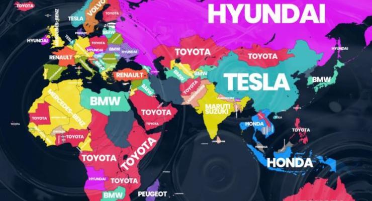 Какие марки автомобилей ищут в Google в разных странах