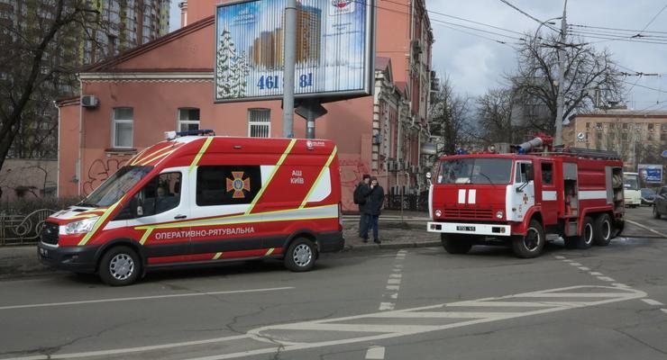 На пожаре в Киеве заметили новую спасательную технику