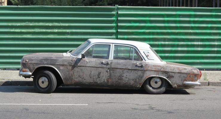 В Киеве заметили загадочную ретро-Волгу