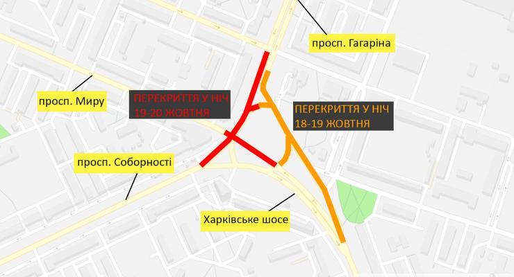 Дарницкую площадь в Киеве перекроют на две ночи - схема проезда