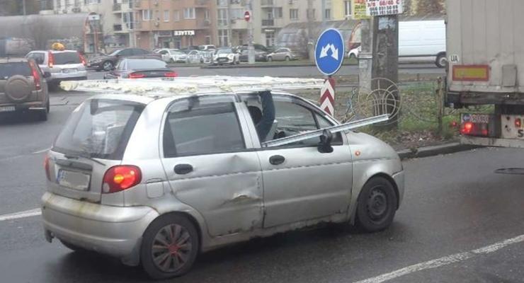 Худшую езду на Daewoo Matiz засняли в Киеве - видео