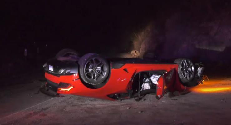 Роскошный Lamborghini обнаружили брошенным прямо на трассе - видео