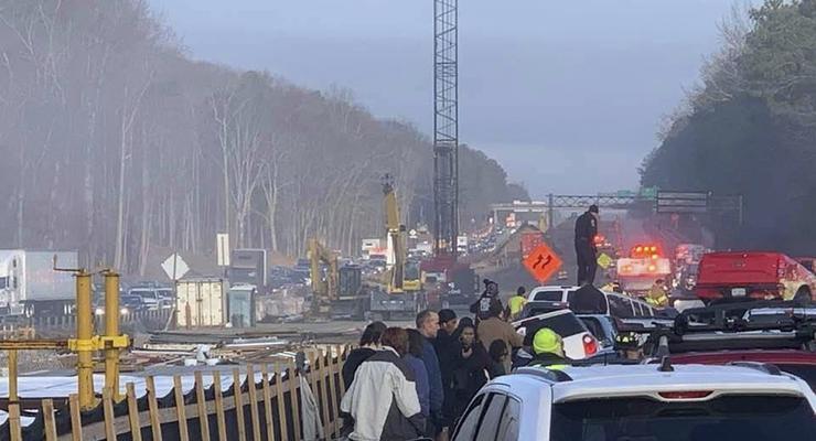 В США в одном ДТП разбилось сразу 63 авто - десятки пострадавших