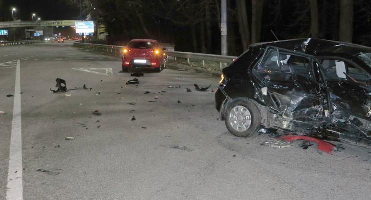 Под Киевом Seat врезался в Skoda - один пострадавший в тяжелом состоянии