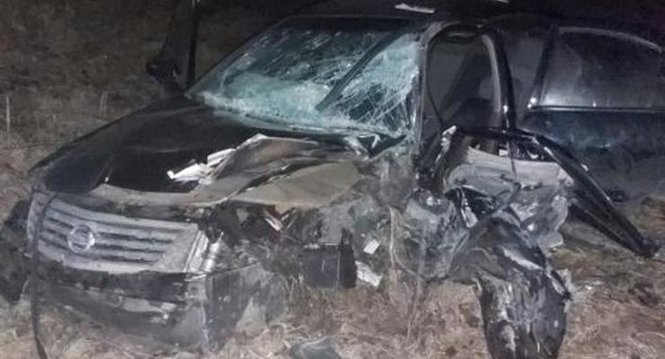 Под Киевом водитель Nissan с наркотиками в носке протаранил Skoda на встречке