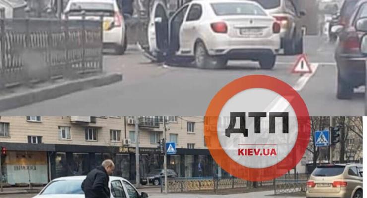 В Киеве на бульваре Леси Украинки произошло серьезное ДТП с такси