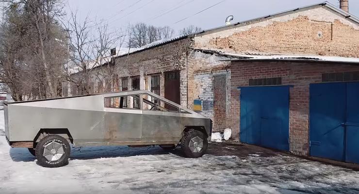 Блогер собрал Cybertruck на базе старого микроавтобуса: Видео