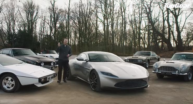 Top Gear дали покататься на автомобилях Бонда: Видео
