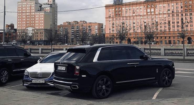 """Киевский """"бриллиантовый"""" Rolls-Royce Cullinan засветился в Москве"""