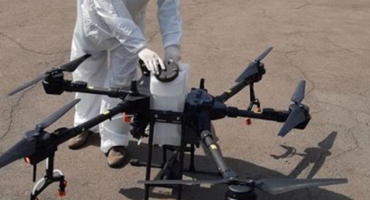 В Киевтеплоэнерго испытали дроны в дезинфекции