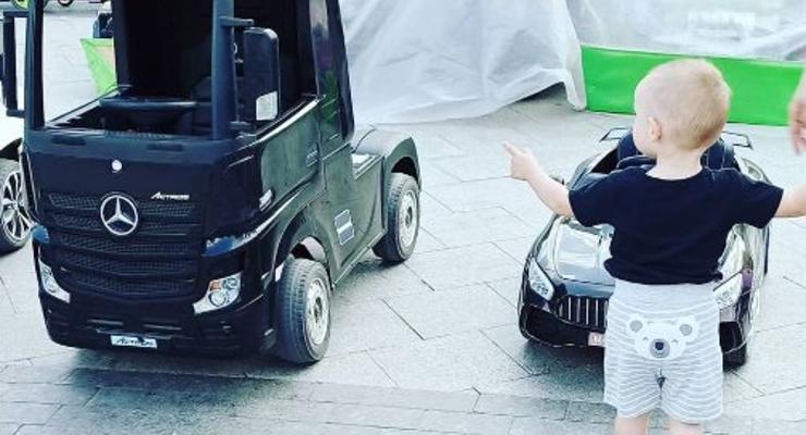 Новенький электротягач Mercedes Actros был замечен на улицах Одессы
