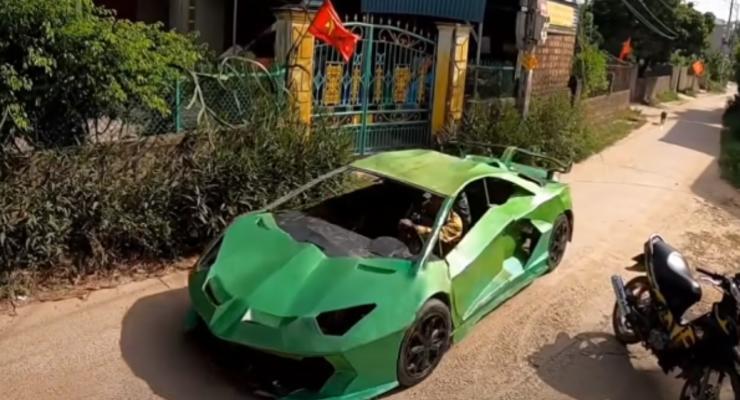 Кризис вносит коррективы: Lamborghini из картона сделали во Вьетнаме