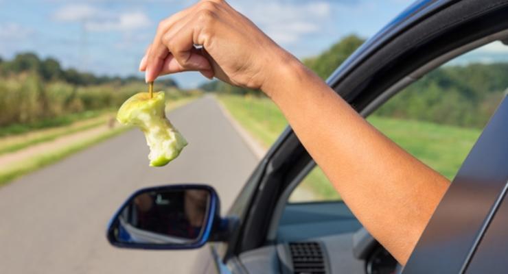 Неряхам на авто грозит штраф за мусор: Законопроект