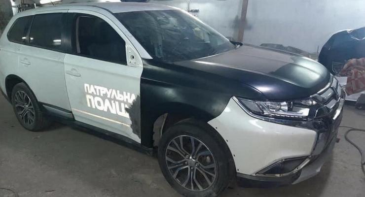 В Украине распродают битые полицейские авто на запчасти: скандальное фото