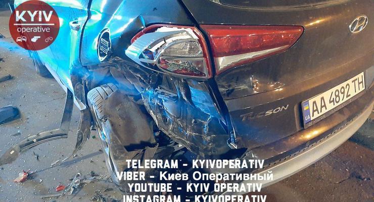 Пьяный художник устроил тройное ДТП в Киеве: видео