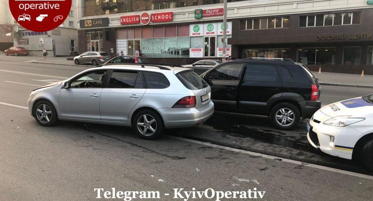 Попытался проскочить, но что-то пошло не так: видео аварии на Васильковской в Киеве