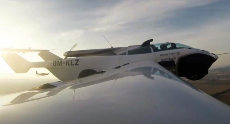 Летающий автомобиль AirCar впервые поднялся в небо: видео