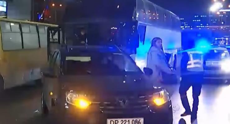 Пьяное ДТП с авто на дипломатических номерах в Киеве: видео