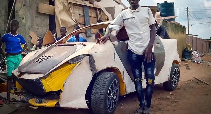 Парень создал самодельный автомобиль за 200 долларов: видео