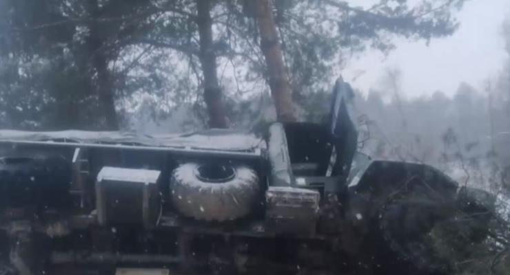 Масштабное ДТП с украинскими военными во Львовской области: видео