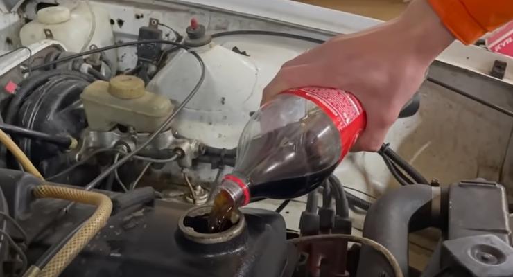 Что будет если залить Колу в двигатель: необычный эксперимент