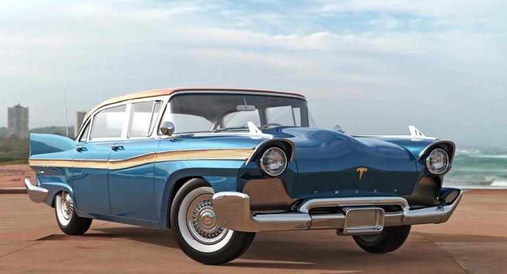 В сети показали необычную Tesla из 50-х: получилось достаточно реалистично