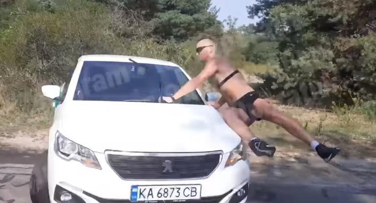 Женщина-таксист Bolt сбила велосипедиста на Трухановом и уехала: видео