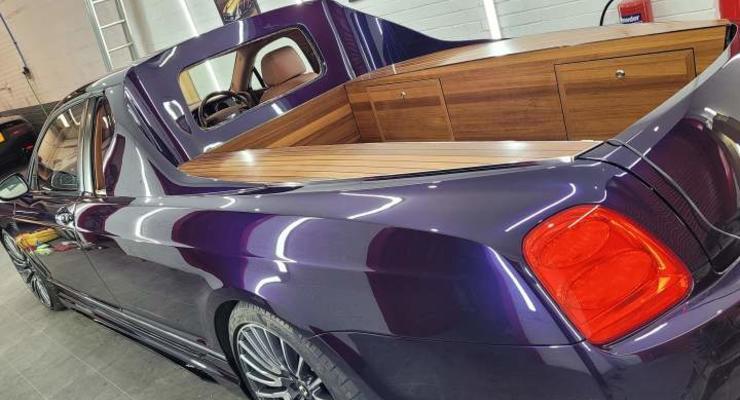 В Англии создали пикап на основе Bentley: видео необычного проекта