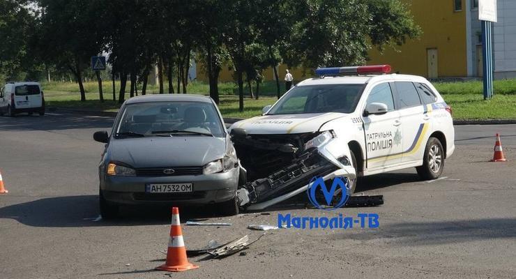 Полиция в Донецкой области разбила две машины за сутки: видео
